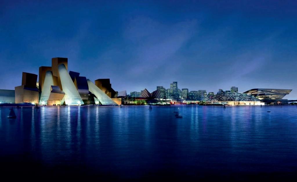 Guggenheim Abu Dhabi, door Frank Gehry.