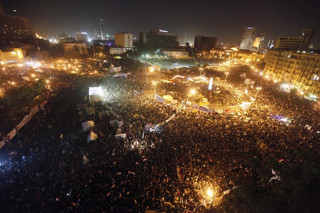 Het Thahrir plein in Egypte, symbool van de Arabische Lente. Bron: Reuters.com